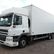 DAF CF 85.380 SPACE CAB,FULL SIDE closed box truck