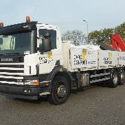 SCANIA p 94.300 kran fassi f 210a cable system truck