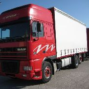 DAF AS 95 XF-430 '01 tilt truck