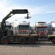 VOLVO FH 480 flatbed truck + flatbed trailer
