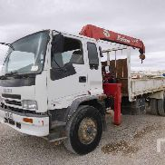 ISUZU FVR23M flatbed truck for sale by auction