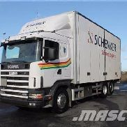 SCANIA R124 closed box truck