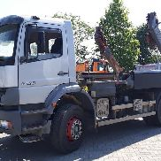 MERCEDES-BENZ 1828 k skip loader truck