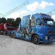 Damaged VOLVO FMS-06 dump truck for parts