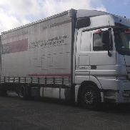 MERCEDES-BENZ Actros 1841 Tandem truck curtainsider + curtain side trailer