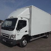 MITSUBISHI FUSO CANTER 7C18 closed box truck for sale by auction
