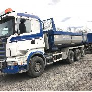 SCANIA R480LB8X4*4 dump truck for sale by auction + tipper trailer