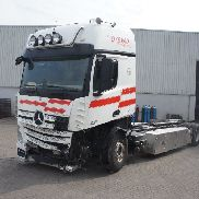 Damaged MERCEDES-BENZ Actros 2551 Automatic Euro-5 2013 chassis truck
