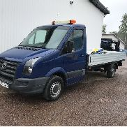 VOLKSWAGEN Crafter 35 flatbed truck for sale by auction