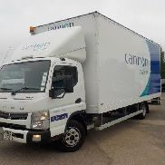 MITSUBISHI FUSO CANTER 7C15 closed box truck for sale by auction