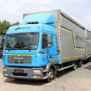 MAN TGL 8.210 BL truck curtainsider + curtain side trailer
