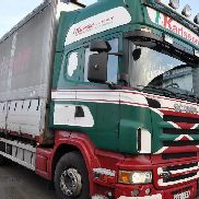 SCANIA R500 closed box truck