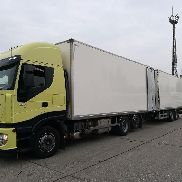 IVECO Stralis 260S45 closed box truck + closed box trailer