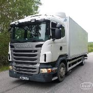 SCANIA R360LBHNA Box (tail lift) - 12 closed box truck for sale by auction