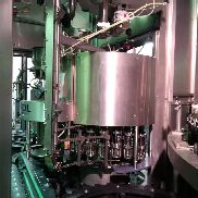 COMPLETE SECOND HAND GLASS BOTTLES FILLING LINE 24.000 bph 40-A