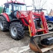 TYM T 1003 agricultural tractor with TUR220 A loader