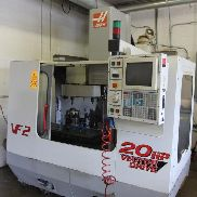 "1999 HAAS VF-2 CNC Vertical Machining Center, s/n 18253, Haas CNC Control, 30"" X-Axis, 16"" Y-Axis, 20"" Z-Axis, 4-24"" Spindle Nose to Table, 26"" x 14"" Table, 3,000 Lb. Table Capacity, 30 HP, 7500 RPM, Cat 40 Spindle Taper, Rigid Tapping, 20 ATC"
