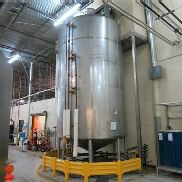 7,000 Gallon 75 PSI Jacket Vertical Sanitary 304 Stainless Steel Process Mix Tank
