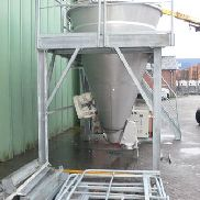 88 Cubic Foot Hosokawa Type 25-LFR-43 Stainless Steel Conical Mixer