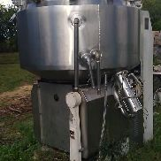 211 Gallon (500 Liter) 7.5 KW Unimix Fairfield Dalton Stainless Steel Planetary Mixer