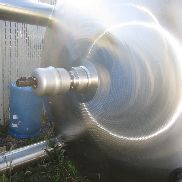 3,500 Gallon 50 PSI Internal, 100 PSI Jacket Vertical Sanitary Polished Stainless Steel Tank
