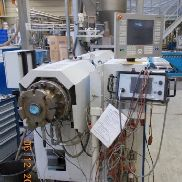 Extrusion line for WPC deckings