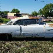 1956 Cadillac Series 62 Coupe, White Color, Not Running, VIN: 5662046972, This Car Is Sold On Bill O