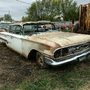 1960 Chevrolet Impala Hardtop 4DR, White Color, Not Running, VIN: 0839J205066, This Car Is Sold On B