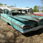 1959 Chevrolet Impala Sedan, 4 Door, Green Color, Automatic Transmission, Not Running, VIN: E59J2673