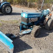 FORD DIESEL 1210 4WD COMPACT TRACTOR W/ 3PT HITCH RUNS. & FRONT MOUNT SNOW