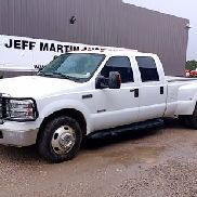 2006 FORD F350 LARIAT SD CREW CAB DUALLY PICK UP, 6.0L DIESEL, A/T, CRUISE, BRUSH GUARD, RUNNING BOA