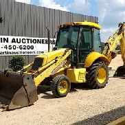 NEW HOLLAND LB75B 2WD LOADER BACKHOE, A/C CAB, 89'' 4 IN 1 BKT W/TEETH, 36'' HOE BKT, 17.5L-24 REARS