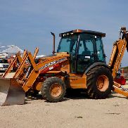 2008 Case 590 Super M Series 2 4x4 Tractor Loader Extendahoe