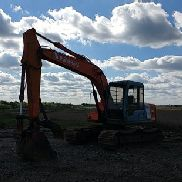 "1995 HITACHI EX120-3 VIN # / SN #: 41783 ESCAVATORE IDRAULICO, CAB, 8 '2 ""STICK, 36"" BKT W / TEETH, THUMB"