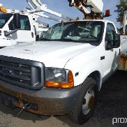Altec AT200-A, Telescopic Non-Insulated Bucket Truck mounted behind cab on 2000 Ford F350 Service Tr