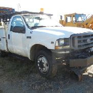 2003 FORD F-350 UTILITY TRUCK, V10 GAS, AUTOMATIC, TOOLBOX BED, HYRAIL SET