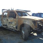 FORD F-350 UTILITY TRUCK, CAB IS BADLY BURNED, BED IS STILL GOOD, TOOLBOXE