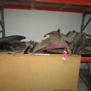 1968 Ford Mustang parts including car fenders, bumper, gas tank, parts, etc.