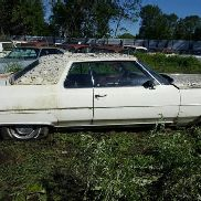 1972 Cadillac Deville Coupe, 2 Door, White Color, Not Running, VIN: 6D47R2Q108839, Car Has Title