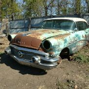 1956 Buick Special 2DR Hardtop, Coupe, Green Color, Not Running, VIN: C4002634, This Car Is Sold On