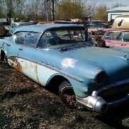 1957 Buick Roadmaster Riviera 4DR Hardtop, Blue Color, Automatic Transmission, Not Running, VIN: 7D4