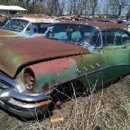 1955 Buick Super 2DR Hardtop, Green Color, Not Running, VIN: 5B4042954, This Car Is Sold On Bill Of