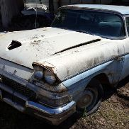 1958 Ford Sedan, 4 Door, White Color, Not Running, VIN: 33494, This Car Is Sold On Bill Of Sale Only