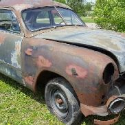 1950 Ford Post, 2 Door, Blue Color, Engine Type-Flathead, Manual Transmission, Not Running, BOSP1859