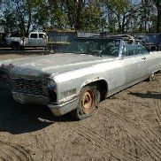 1966 Cadillac Deville Convertible, Grey Color, Not Running, VIN: F6241157, Car Has Title