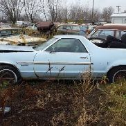 1977 Ford Ranchero, 2 Door, Blue Color, Automatic Transmission, Not Running, VIN: 7A47F122651, Car H