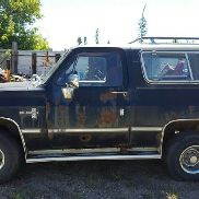 1984 Chevrolet Blazer K10 Utility Hardtop, Black Color, Has 4 Wheel Drive, Not Running, VIN: 1G8EK18