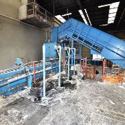 Paal Konti 500 B / 4, pressing force 120 t, feed opening 2000 x 1020 mm, drive power 3 x 45 kW