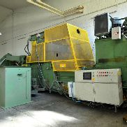 Bollegraaf HBC 110F, pressing force 100 t, built in 1997, 19,126 hours of operation, chute 1,600 x 1,100 mm, Drive power 75 kW, with Vorpressklappe and Wirbulator