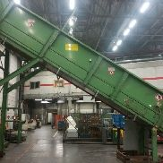 Bollegraaf conveyor under the floor, HBT 600, built in 2009, total length of 25,446 mm, effective working width 1,400 mm